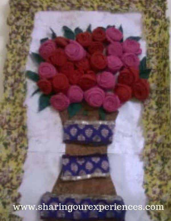 wall hanging using old clothes