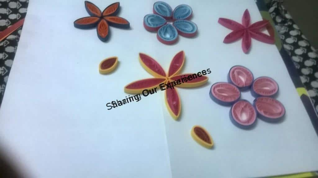 How to make paper quilled greeting card sharing our experiences diy hand crafted paper quilled flower greeting card m4hsunfo
