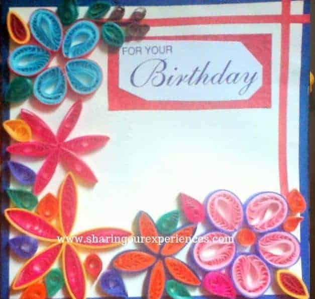 paper quilled greeting card
