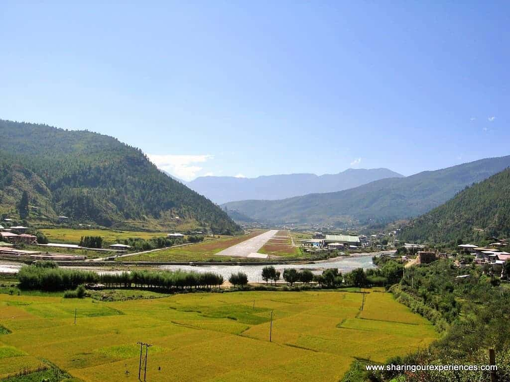 Paro Bhutan Airport Strip