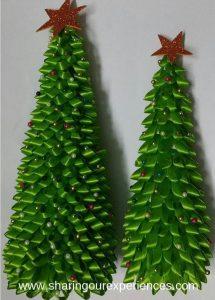 Looped Ribbon DIY Christmas Tree