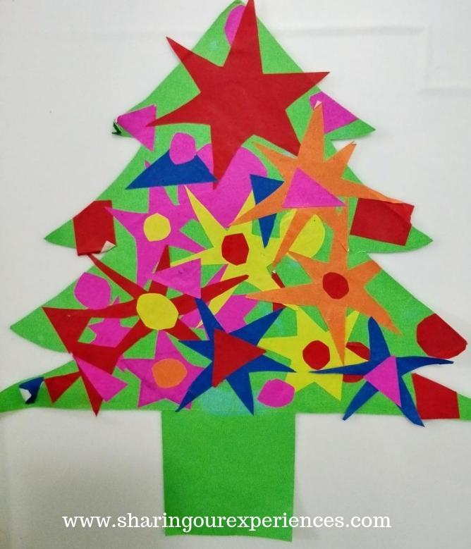 Cut and Paste Paper Christmas tree Craft
