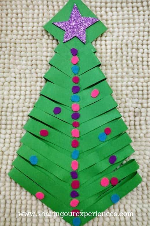 Folded Paper Christmas Tree Craft