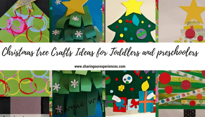 Christmas tree Crafts for Toddlers and preschoolers