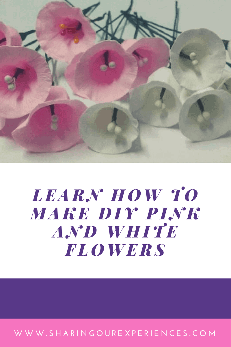 DIY Pink and white Crepe Paper Flowers