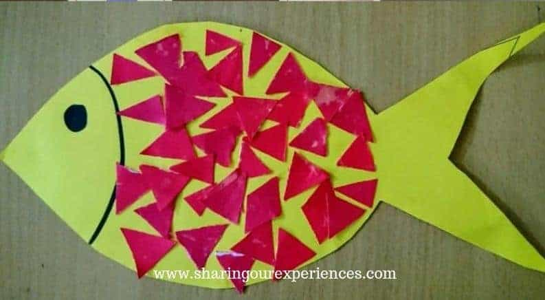 DIY cut and paste activity for toddlers 2