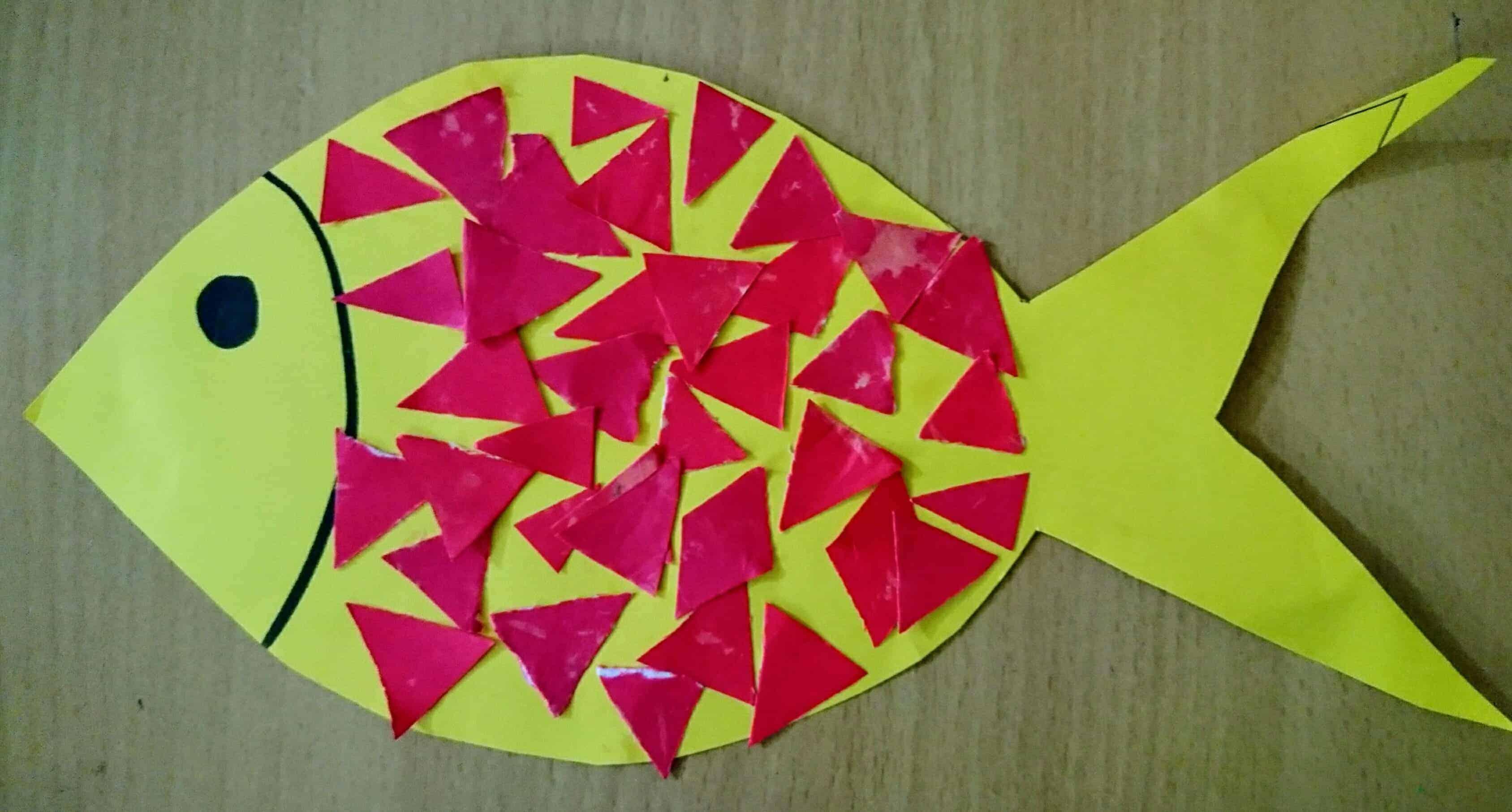 diy cut and paste fish