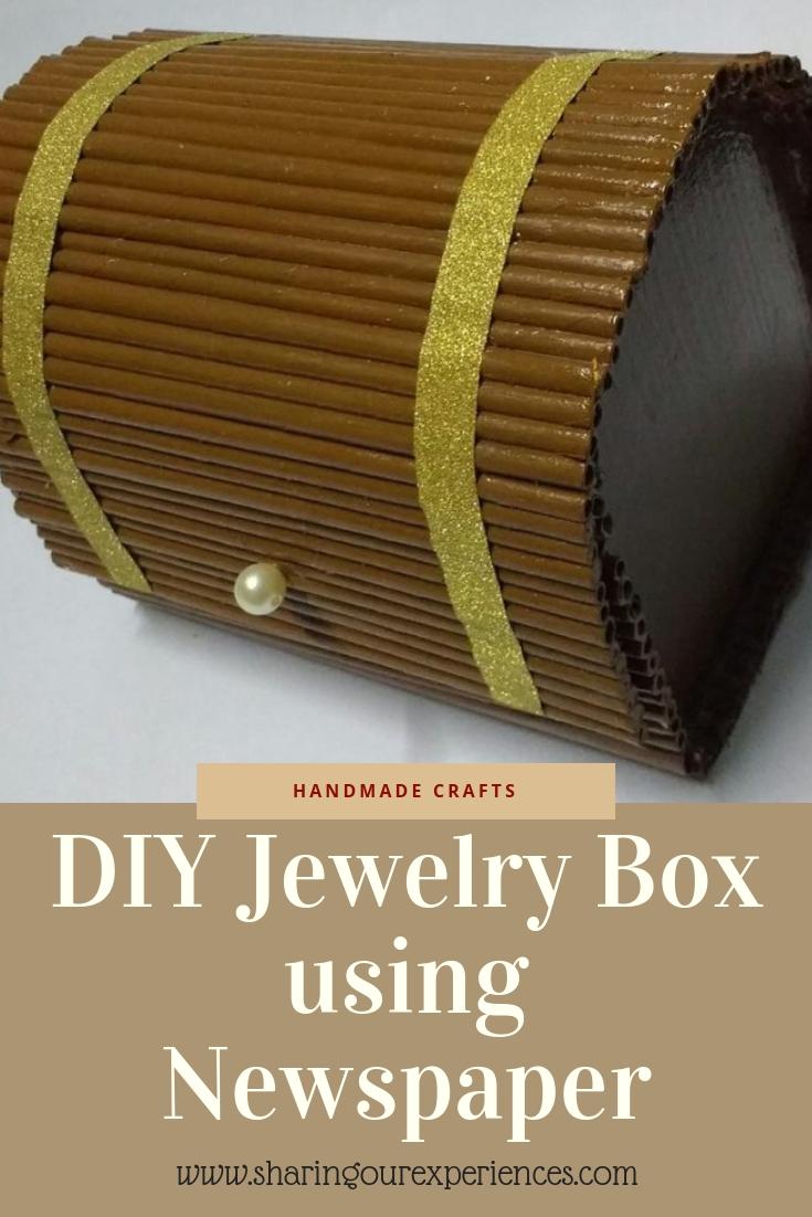 DIY Jewelry box using Newspaper_pin