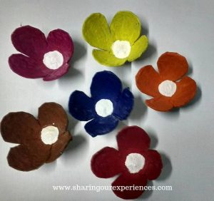 Egg-Tray-Flowers or Flowers using egg carton, Best out of waste