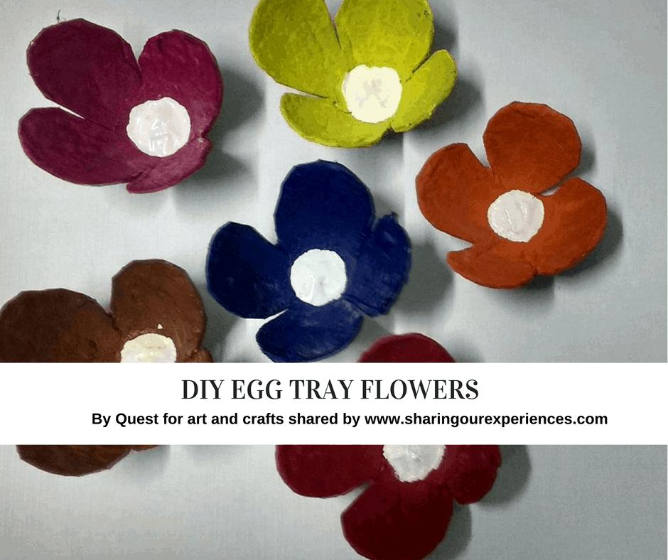 Egg-tray-flowers How to make Egg Carton flowers