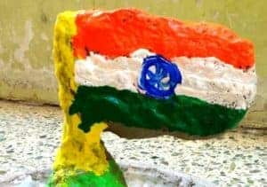 National Flag using Clay
