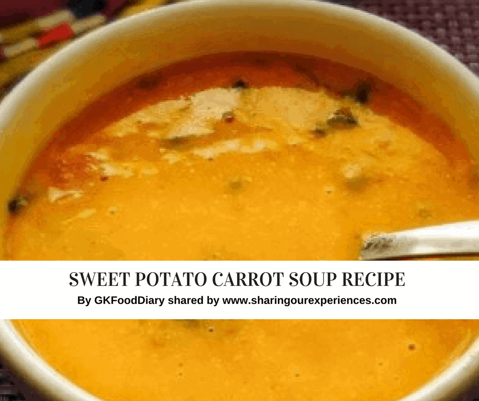 Sweet Potato Carrot Soup with Almonds Recipe