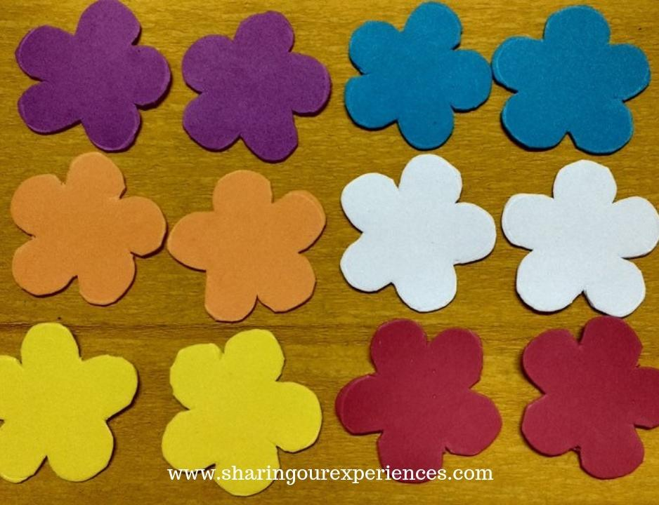 Foam sheet Flowers 1