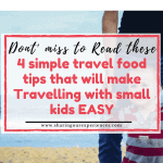 Travel food tips for travelling with small kids