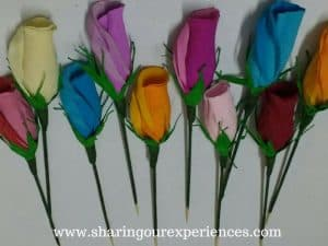 How to make Crepe Paper Rose buds