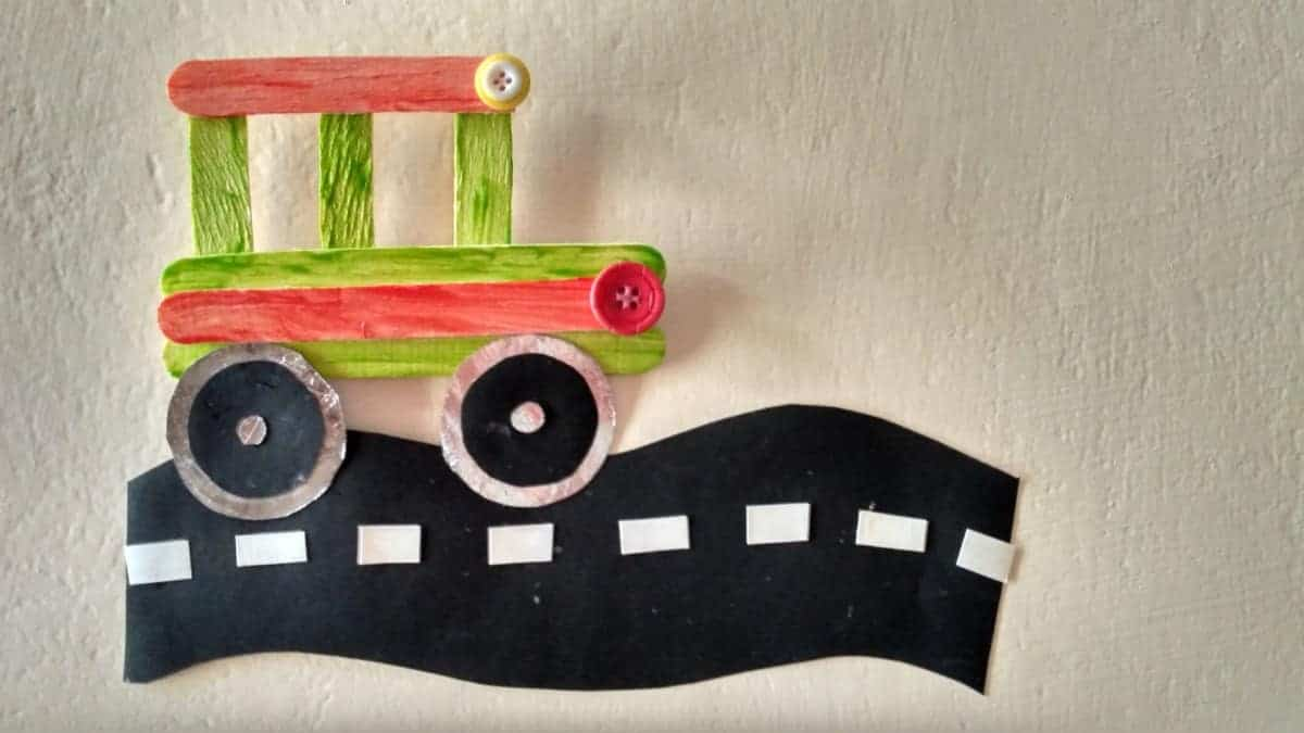 Very Easy Popsicle Sticks Bus Craft For Kids Sharing Our Experiences