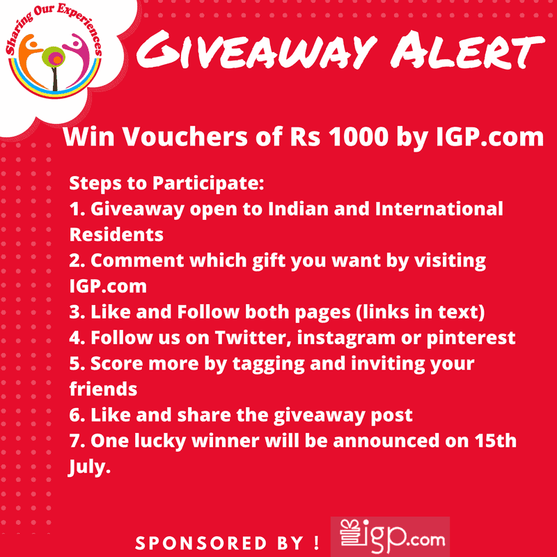 Sharing Our Experiences IGP Giveaway