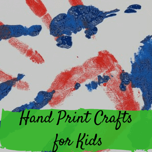 Hand print crafts for kids