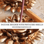Incense Holder With Pistachio Shells