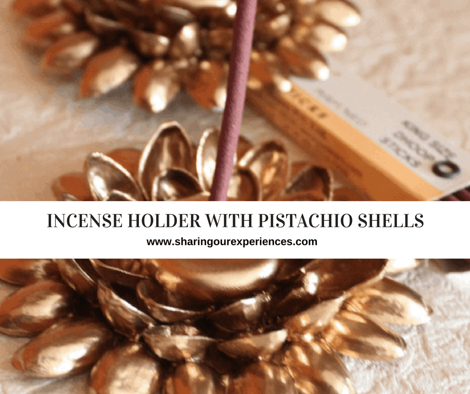 Incense Holder With Pistachio Shells Best Out Of Waste Crafts