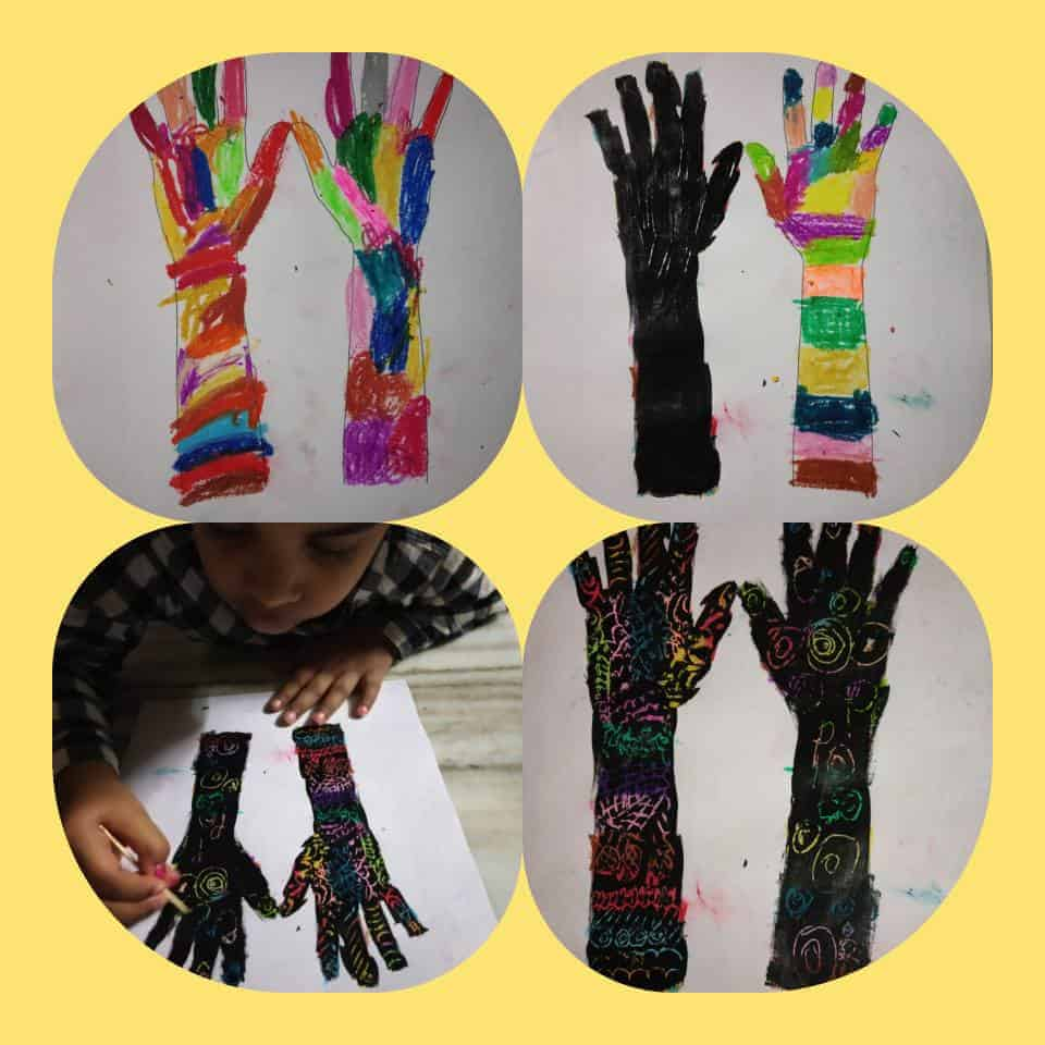Henna art. Easy Diwali art and craft for preschoolers