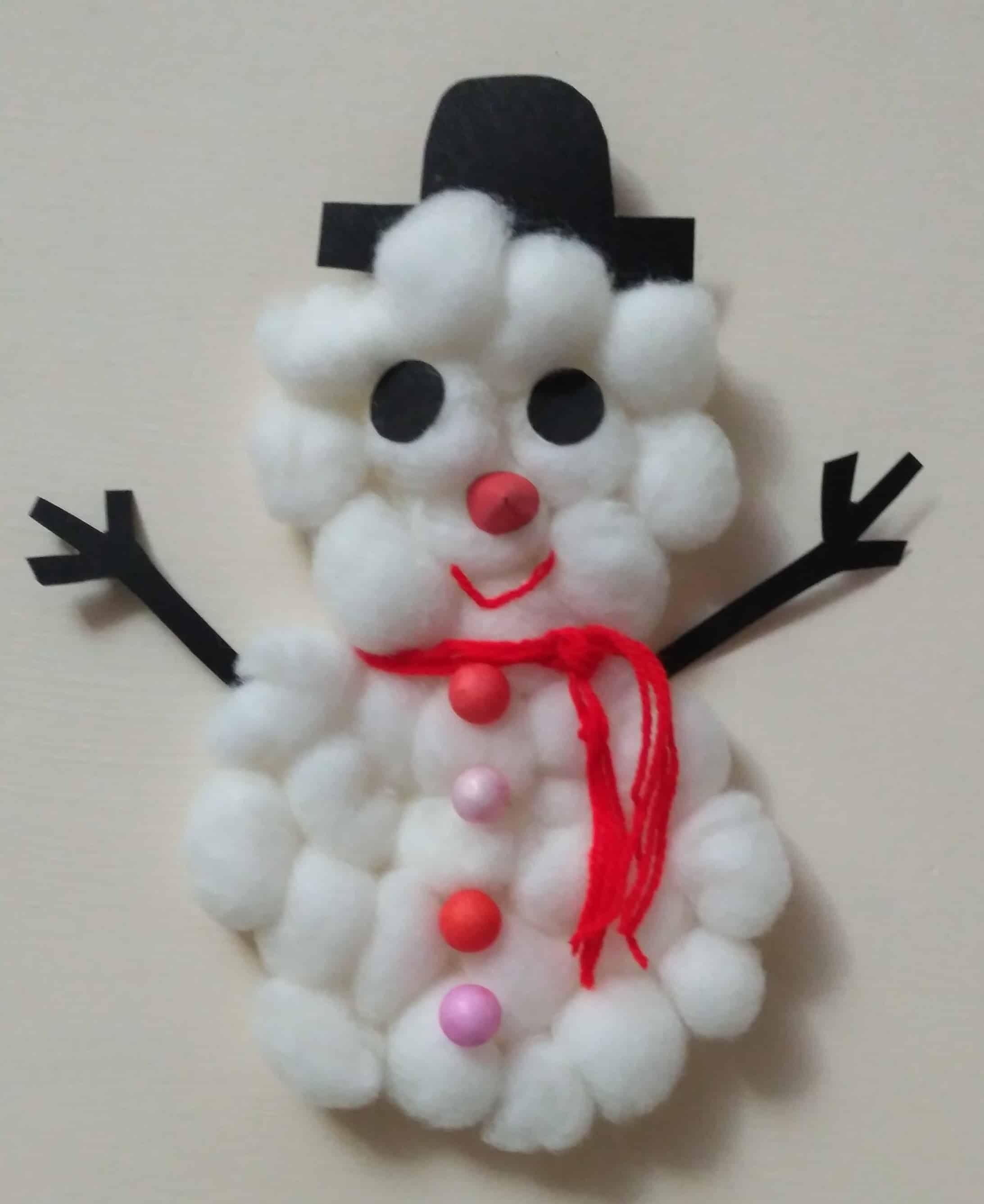 Super Easy Christmas Snowman Craft For Kids