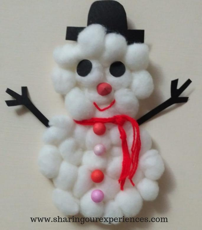Super Easy Christmas Snowman Craft For Kids Sharing Our Experiences