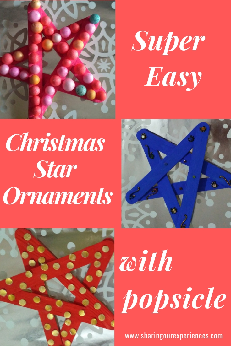 simple easy christmas star ornaments with popsicles for kids_pin
