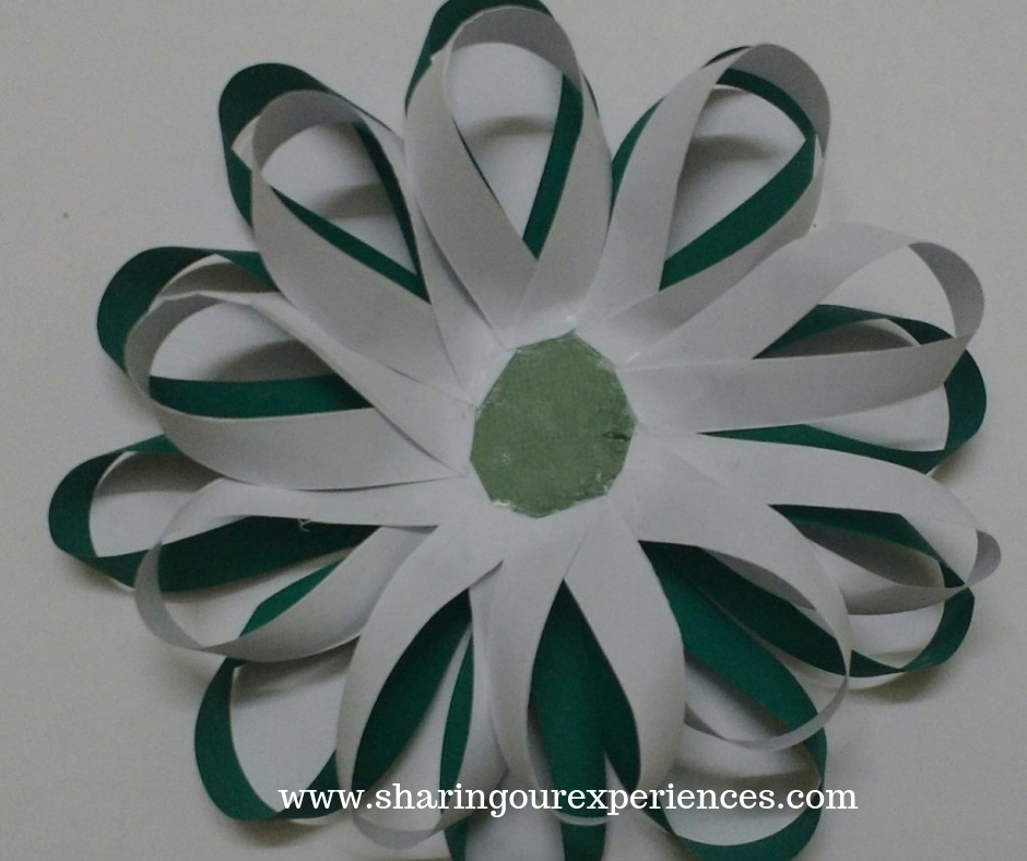 3 easy tricolour paper flower