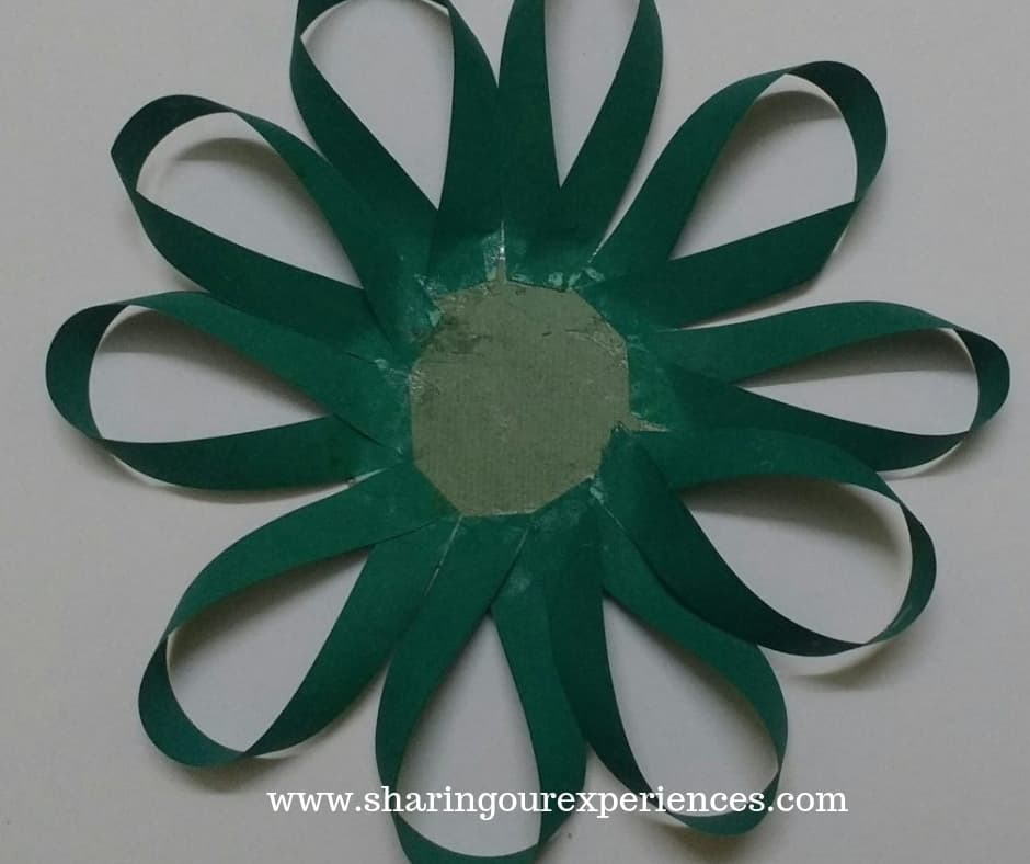 2 easy tricolour paper flower