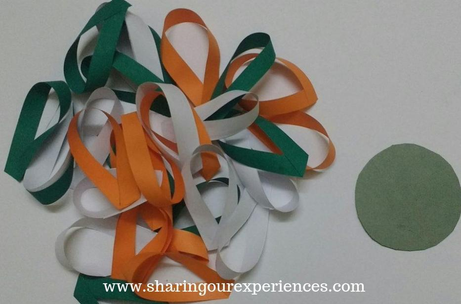 tricolor flower with paper. How to make Tricolor paper flower craft with paper. Best out of waste crafts and decorations for Independence day or Republic day