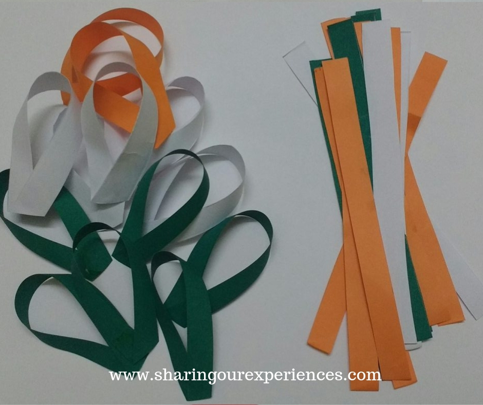 easy tricolour paper flower