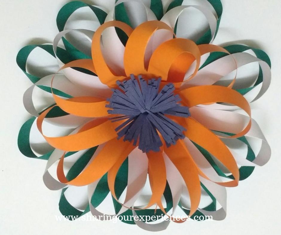 5 easy tricolour paper flower