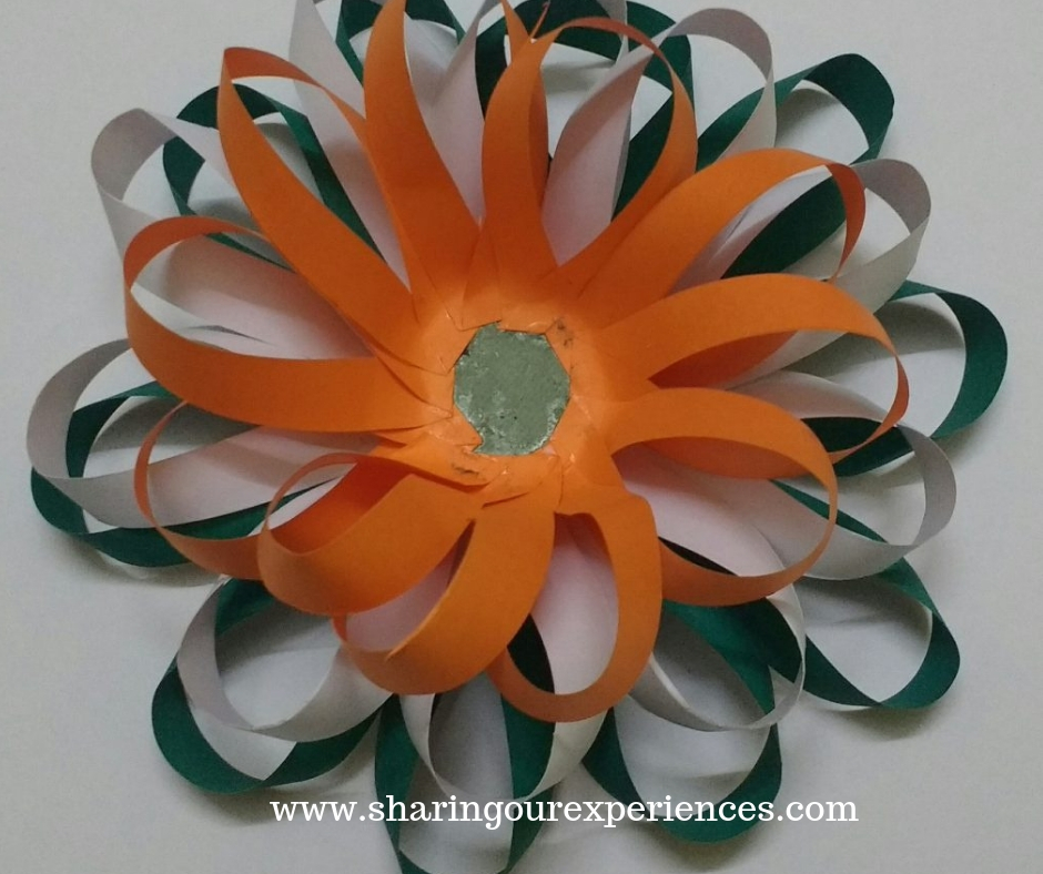 4 easy tricolour paper flower