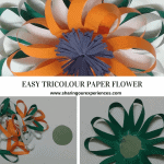Easy Tricolour Paper Flower | Republic Day and Independence Day crafts