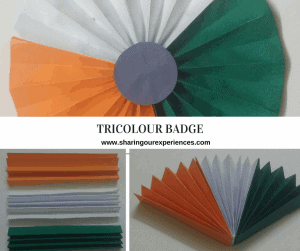 Tricolour Badge or flower | Republic Day and Independence Day crafts