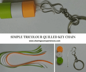 Simple Tricolour Quilled Key Chain | Republic Day and Independence Day crafts