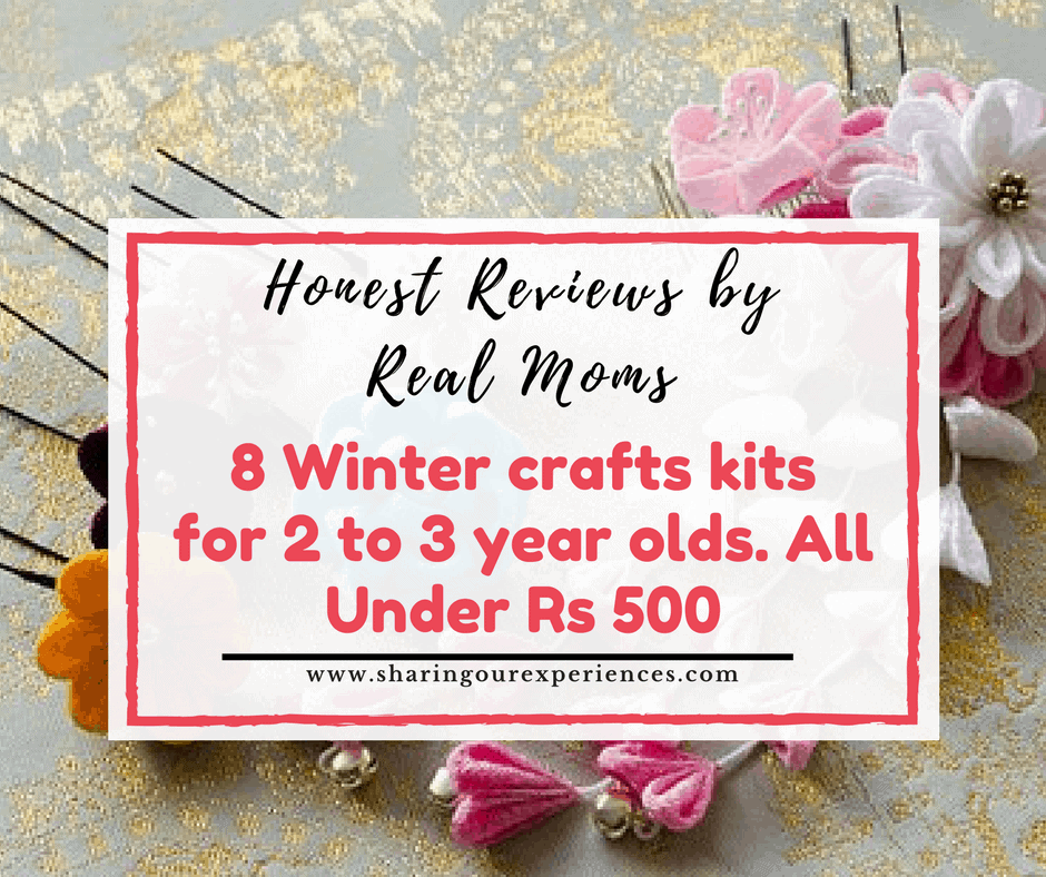 winter crafts kits for 2 to 3 year olds