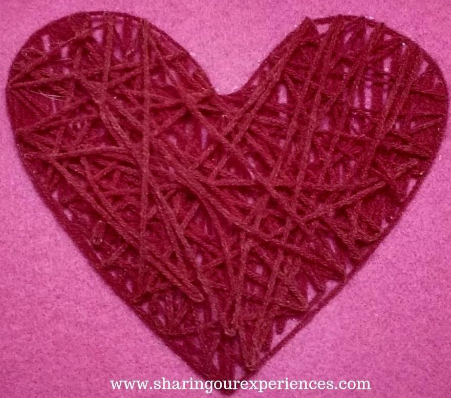 11 heart shaped wall hanging