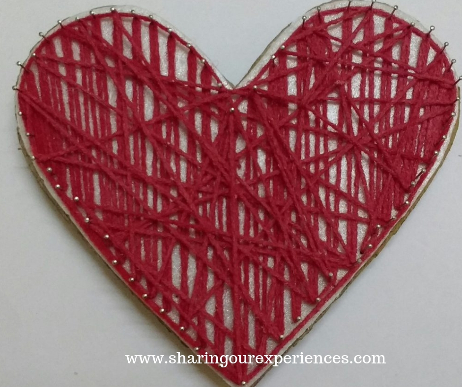 6 heart shaped wall hanging