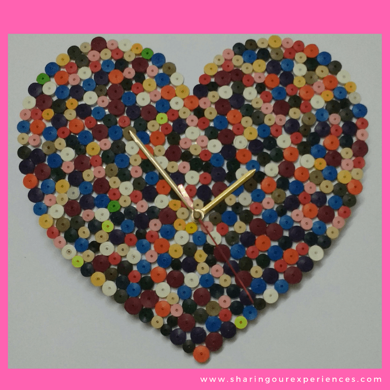 13 valentines day crafts Quilling Clock