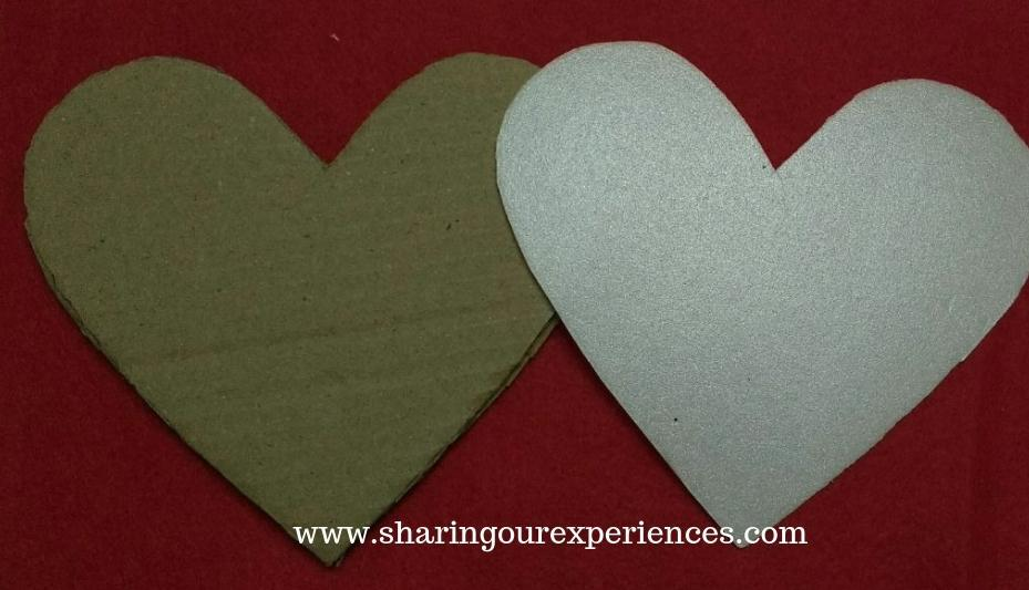 2 heart shaped wall hanging