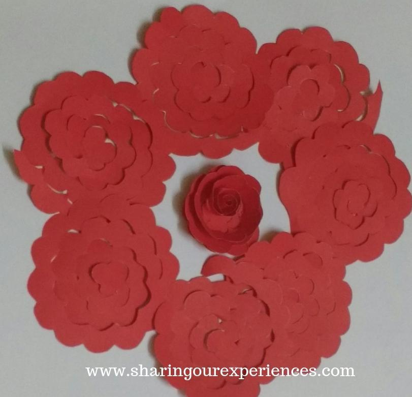 10 red roses wall hanging craft
