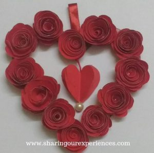9 red roses wall hanging craft Valentines day crafts