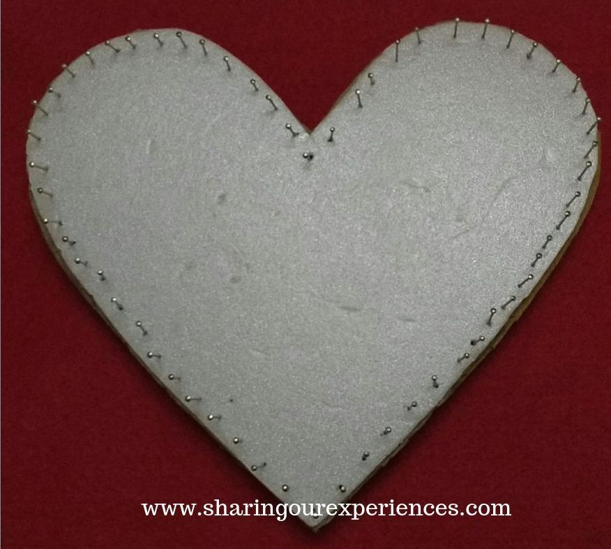 8 heart shaped wall hanging