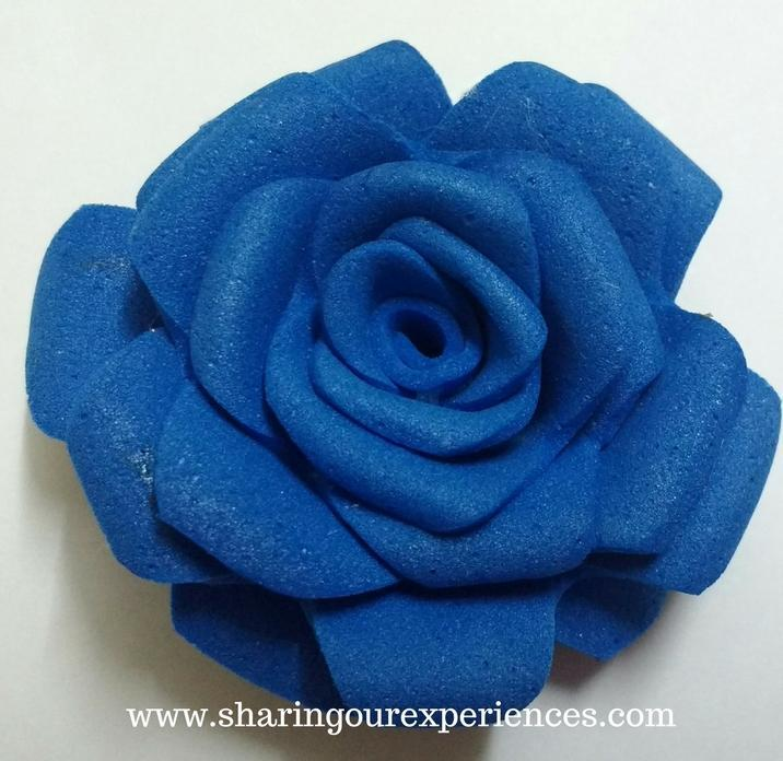 How to make Foam roses | Easy Step by step tutorial with pics . Making artifical rose flower