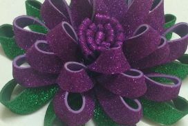 How to make Glittery foam sheet flowers