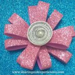 How to make Pink Glittery Foam Sheet Flowers | Free Crafts Tutorial