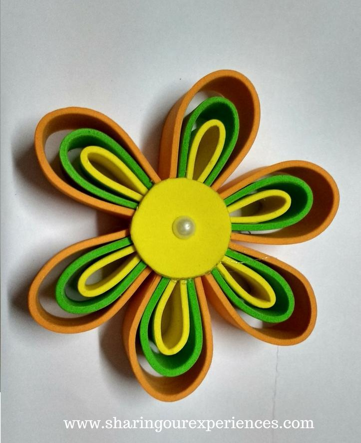 Super easy foam flowers for kids