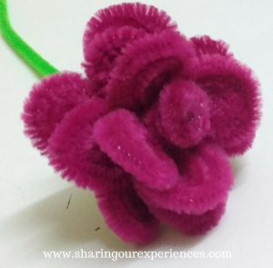 How to make rose with Pipe cleaner. Easy Pipecleaner rose craft